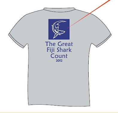 Great Fiji Shark Count tshirt